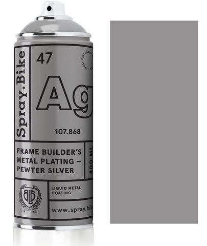 Spray.Bike Frame Builder's Metal Plating - Pewter Silver - 400ml