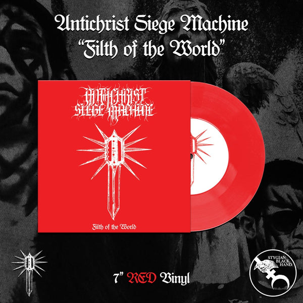 "Antichrist Siege Machine - Filth of the World 7"" (RED VINYL)"