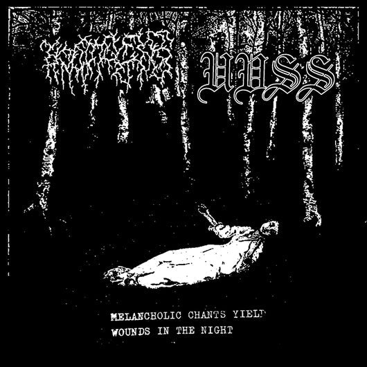 Moraš/ Uvss - Melancholic Chants Yield Wounds In The Night 7''