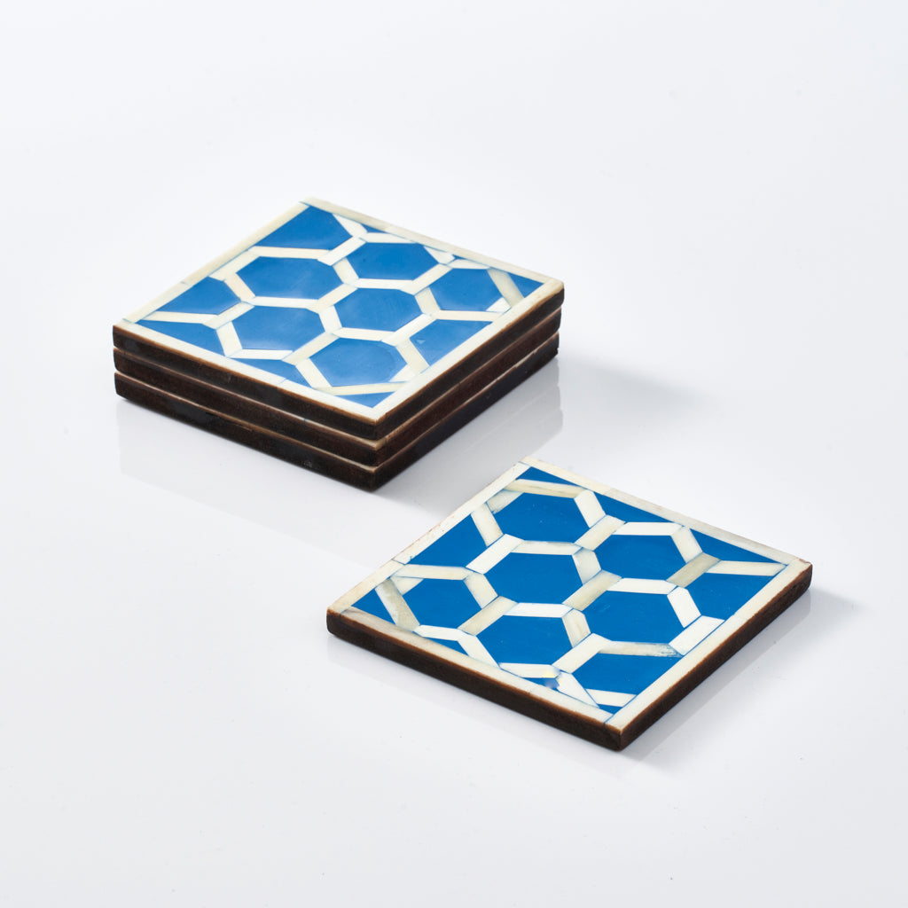 Hexagon Pattern Coasters (Set of 4)