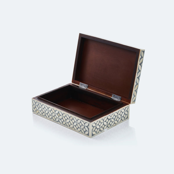 Geometric Pattern Box - Grey