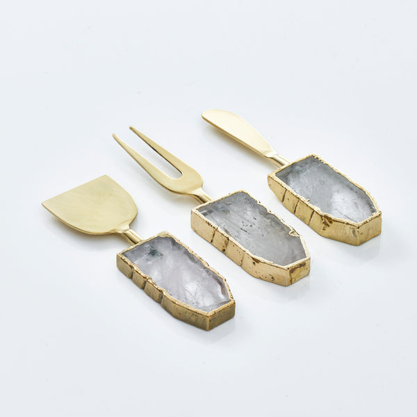 Quartz Cheese Knives (Set of 3)