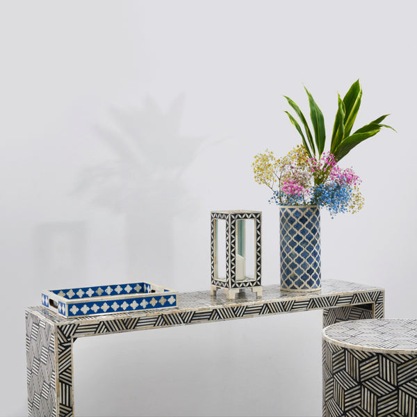 Console Table - Optical Illusion Box Pattern
