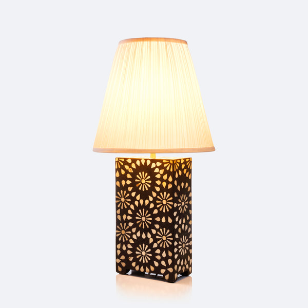 Table Lamp - Chrysanthemum Pattern