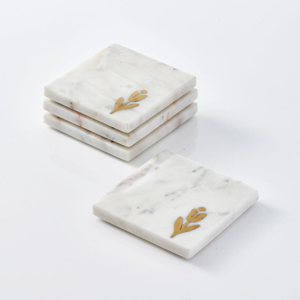 Marble Coasters - Tulip (Set of 4)