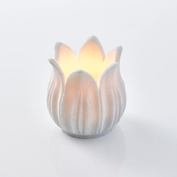 Marble Lotus Tea Light Holder