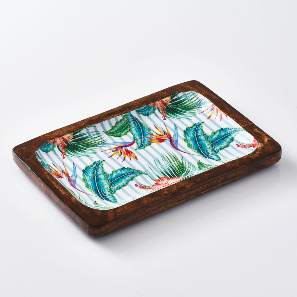 Rectangular Serving Tray - Tropical Gardens
