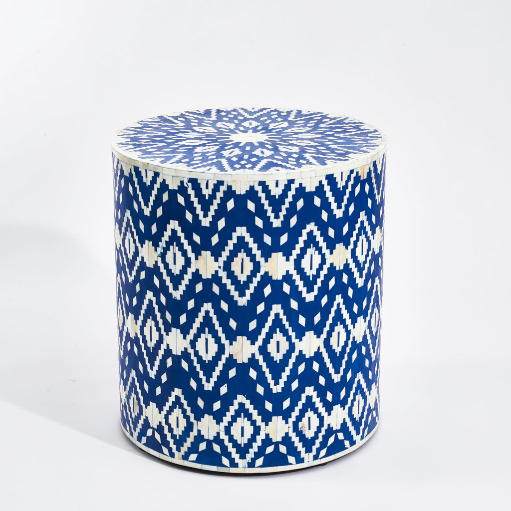 Side Table - Ikat Pattern