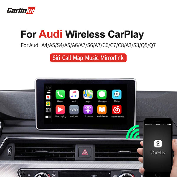 Carlinkit Wireless multimedia android auto video interface apple carplay for Audi Q2 Q3 Q5 Q7 A3 A4 A5 A6 C7 A7 A8 S4 S5 S6 S7