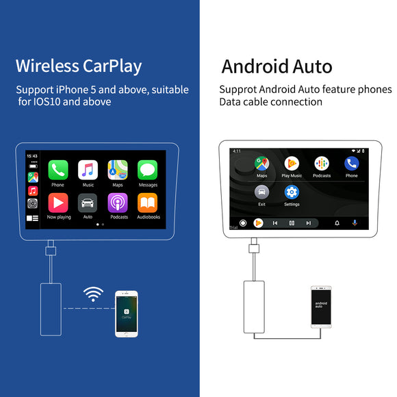 Wireless Carlinkit Apple CarPlay /Android Auto USB Dongle for Android System stereo