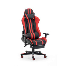Load image into Gallery viewer, Red Gaming Chair with Footrest