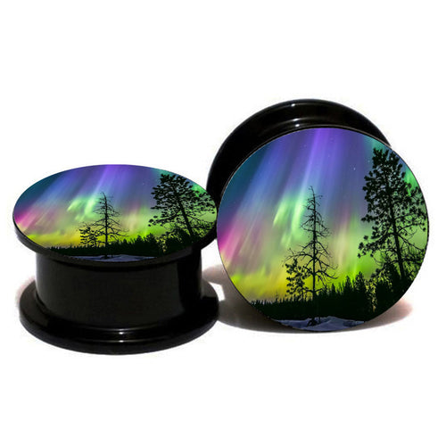 Aurora Double Flared Ear Plug - Squatch In The Pit