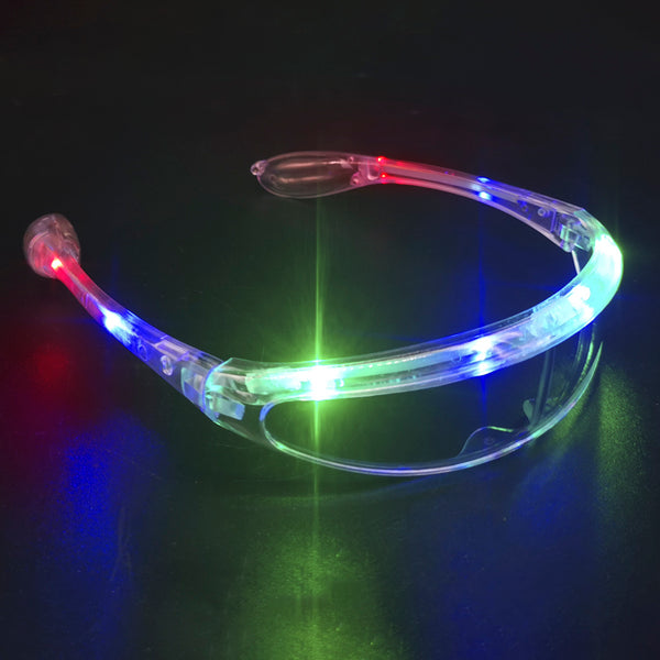 LED Glow In The Dark Futuristic Sunglasses - Squatch In The Pit