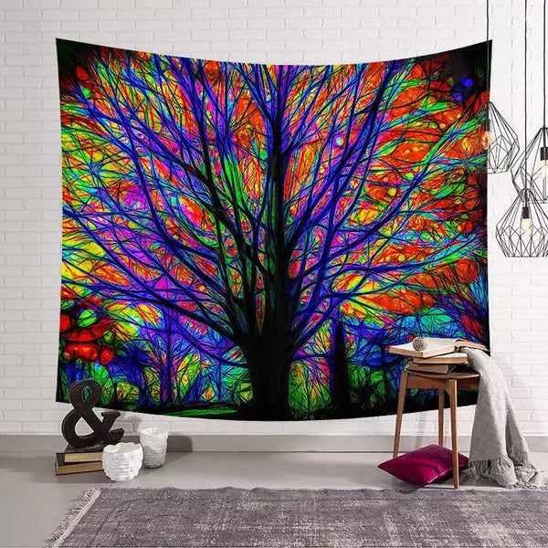 3D Trippy Psychedelic Tapestry - Squatch In The Pit