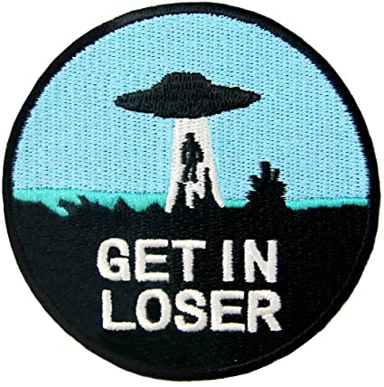'Get In Loser' UFO Patch - Squatch In The Pit