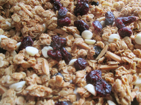 Chrissy's Blend: White Chocolate Cranberry Blueberry Granola with Almonds