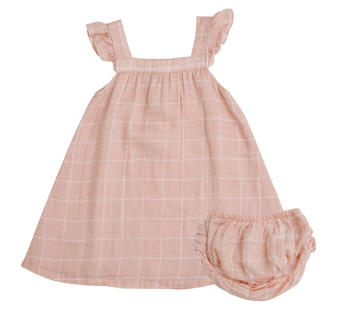 Off the Grid Muslin Sundress with Bloomers - Pink