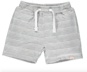 Bluepeter Sweat Shorts in Grey & White Stripes