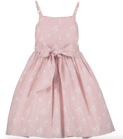 Jennie Dress in Pink Dandelion