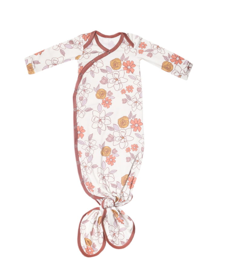 Ferra Newborn Knotted Gown