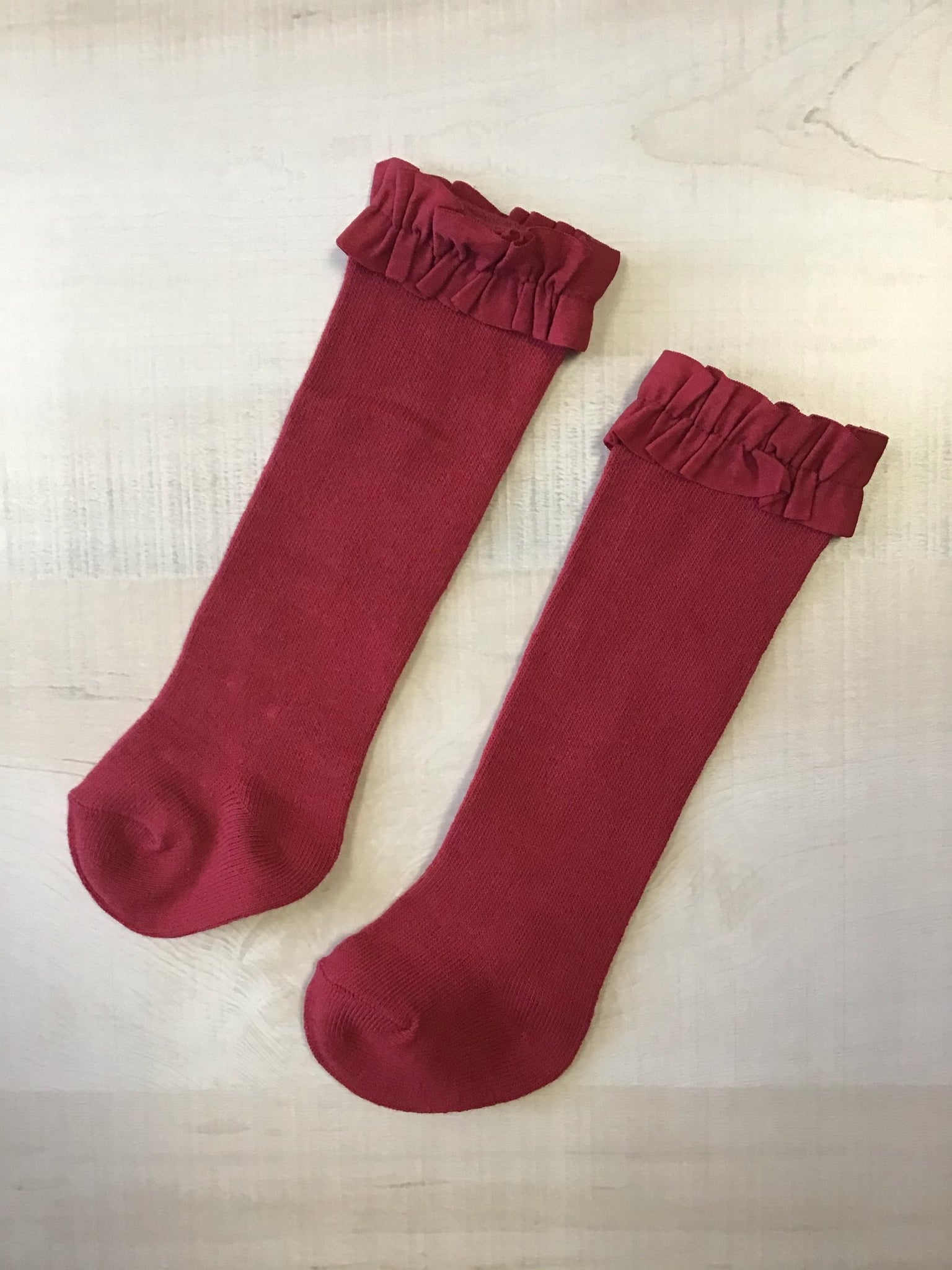 Cranberry Knee High Socks