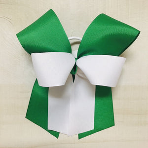 White over Emerald Bow