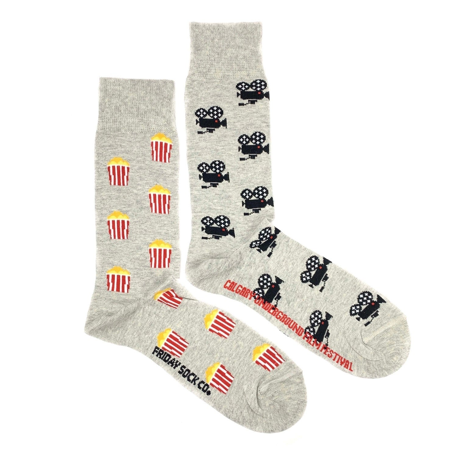 Movie Camera & Popcorn Men's Socks