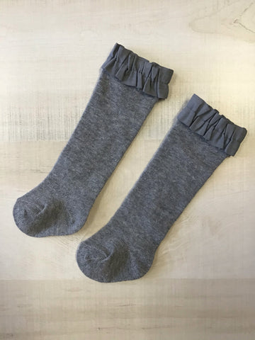 Charcoal Knee High Socks