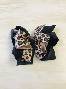 Leopard Ribbon Hairbow