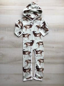 Goat Hooded Romper