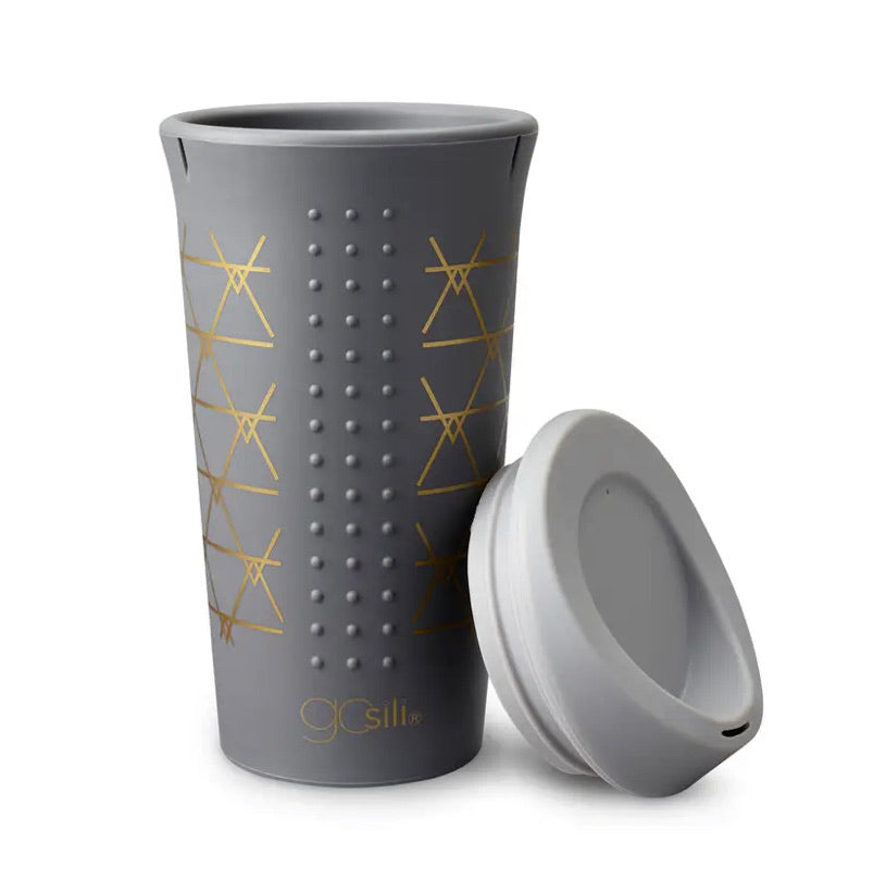 Grey Silicone 16 oz. To Go Cup