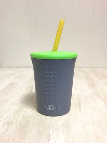 Gray 12 oz. Straw Cup