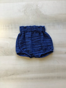 Navy Muslin High Waisted Bloomers
