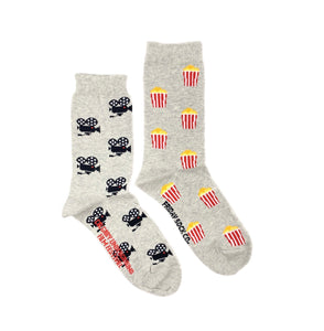 Movie Camera & Popcorn Women's Socks