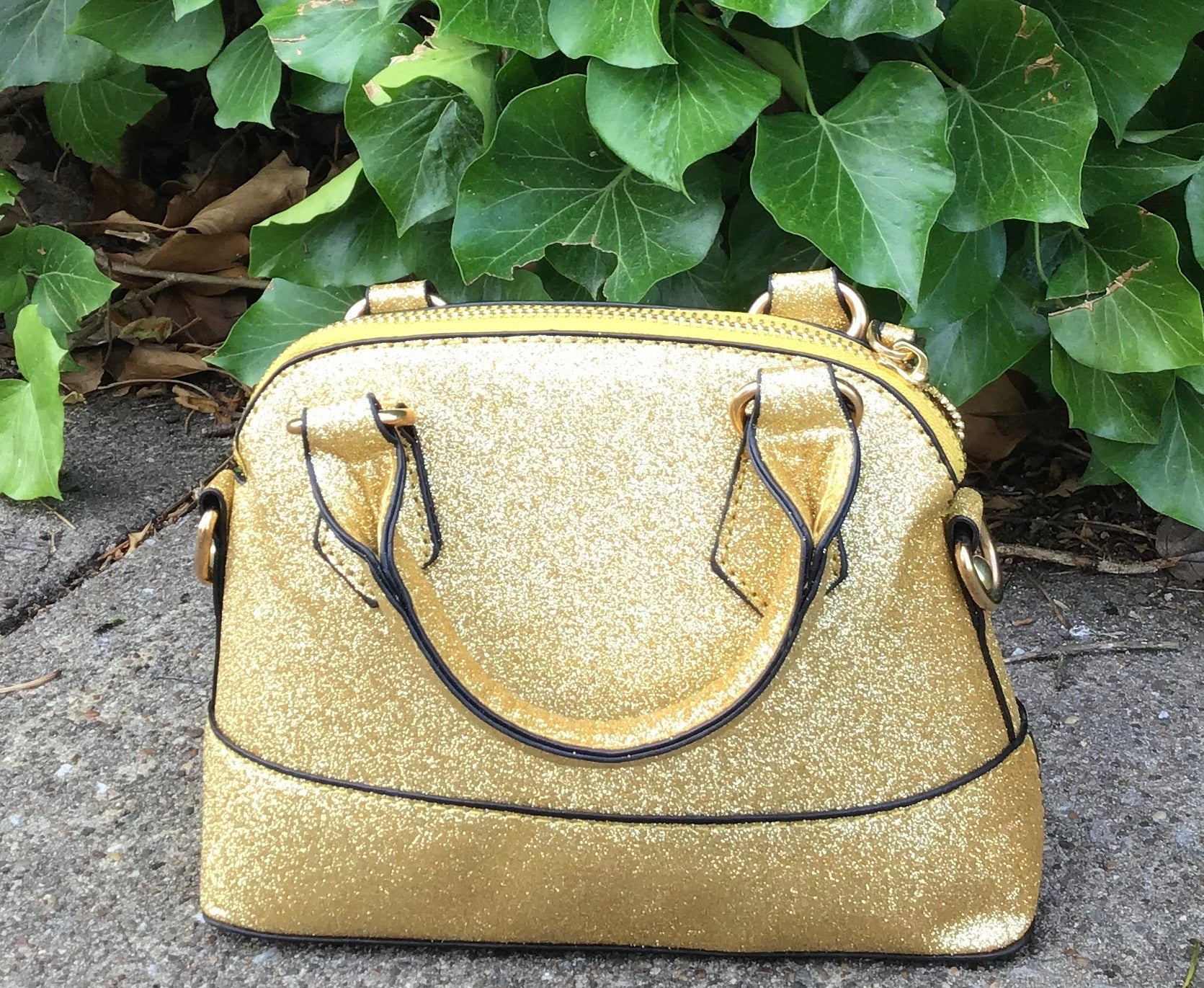 Gold Glitter Girl's Purse