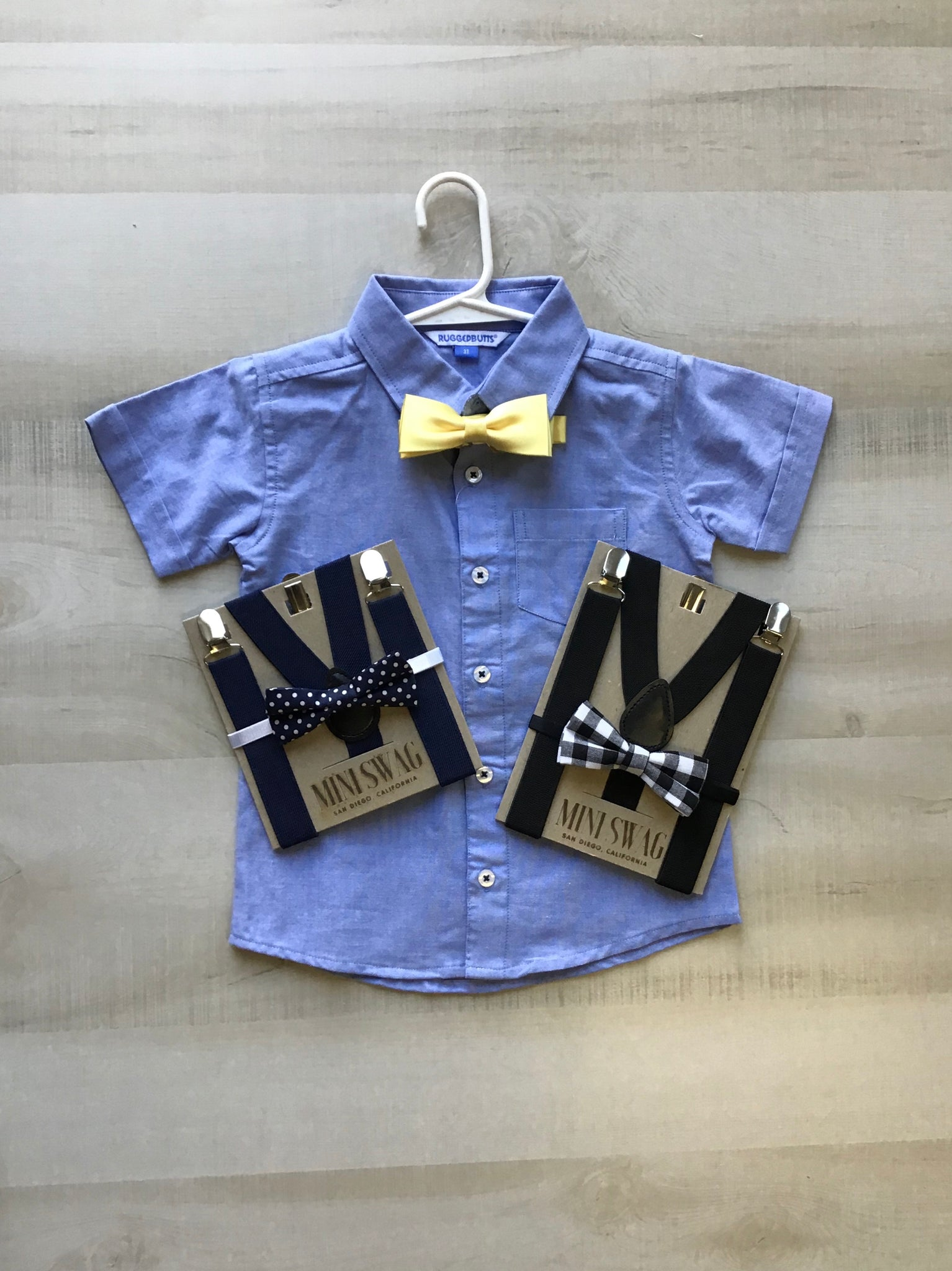 Suspenders with Bow Ties
