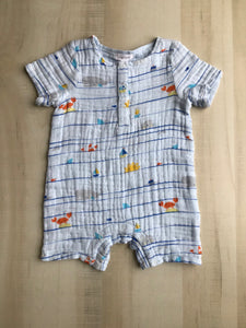 Sea Stripes Henley Shortall