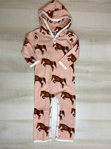 Horse Hooded Romper