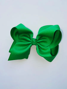 Green King Grosgrain Bow with clip