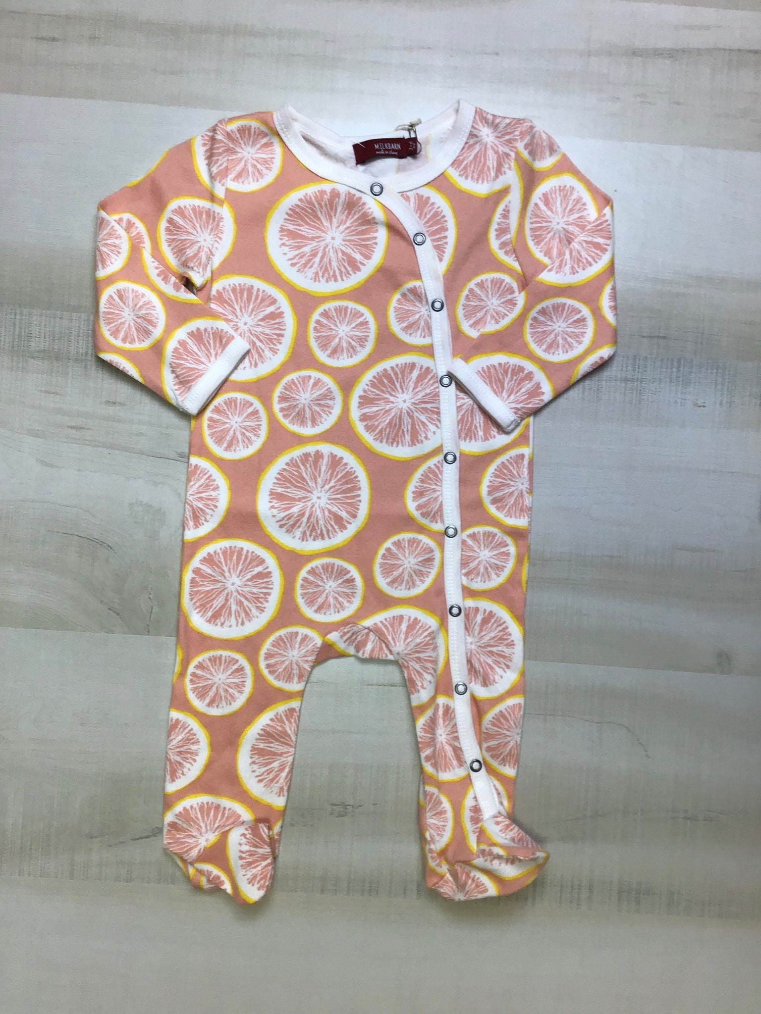 Grapefruit Footed Romper