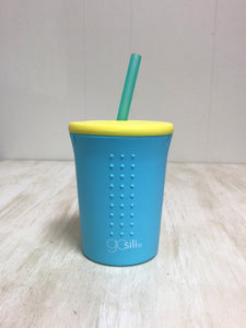 Sea Blue 12 oz. Straw Cup