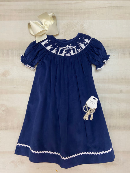 Nativity Smocked Dress