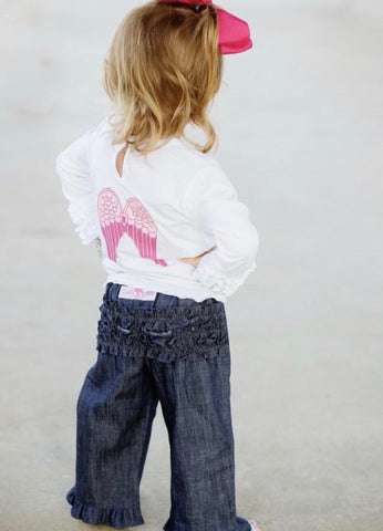 Denim Ruffle Crawler