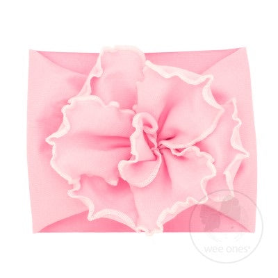 Large Fan Flower Cotton Baby Band - Infant