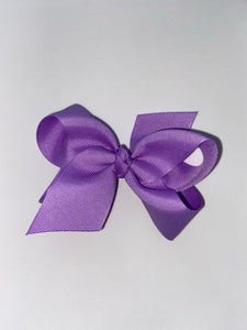 Light Purple Medium Grosgrain Bow with clip