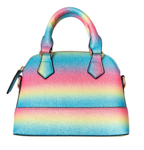 Neon Rainbow Glitter Girl's Purse