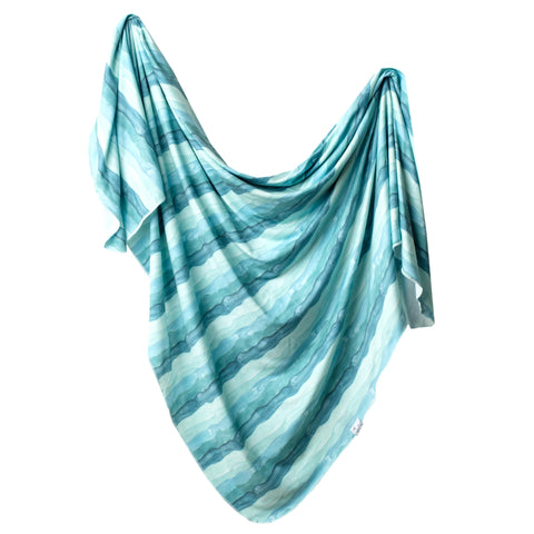 Waves Knit Swaddle Blanket
