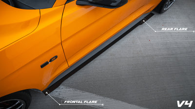2015-2020 Ford Mustang V.4 Side Skirts