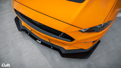 "2018+ Ford Mustang Front Splitter (GT Performance Package) ""PP2 Style"""