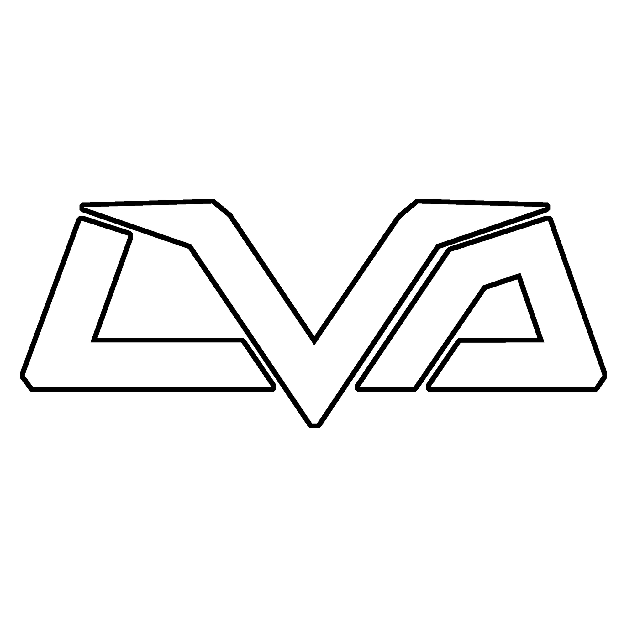 "LVA ""Outline"" Decal"